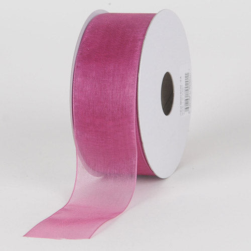 Colonial Rose - Sheer Organza Ribbon - ( W: 5/8 Inch | L: 25 Yards )