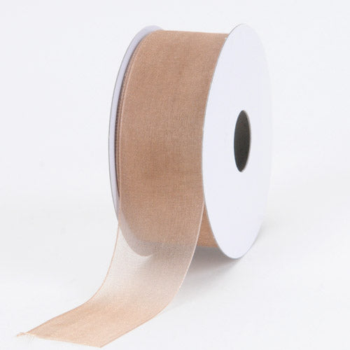 Toffee - Sheer Organza Ribbon - ( W: 5/8 Inch | L: 25 Yards )