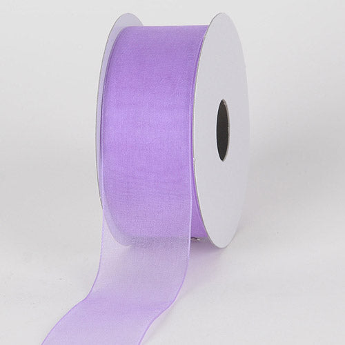 1-1/2 inch Light Orchid Sheer Organza Ribbon