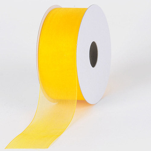 Sunflower - Sheer Organza Ribbon - ( W: 5/8 Inch | L: 25 Yards )