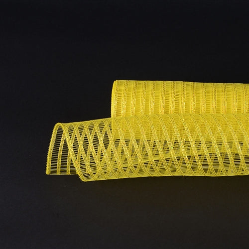 21 Inch x 10 Yards Yellow Deco Mesh Laser Eyelash