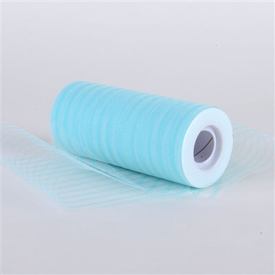 Aqua Multi Striped Tulle - ( W: 6 inch | L: 10 Yards )