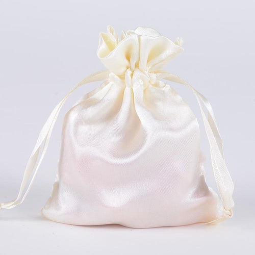Ivory- Satin Bags - ( 3x4 Inch - 10 Bags )