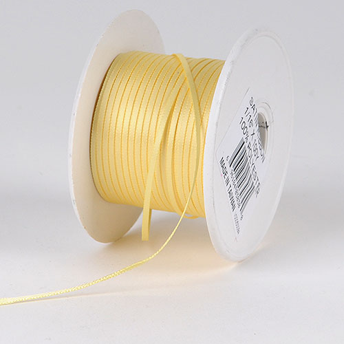 Baby Maize Satin Ribbon - (W: 1/16 inch | L: 100 Yards)