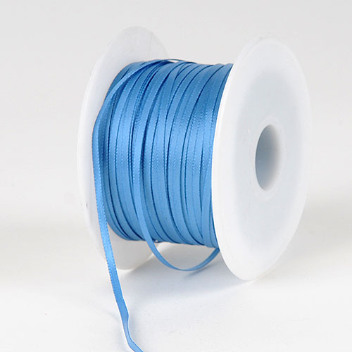 Antique Blue Satin Ribbon - (W: 1/16 inch | L: 100 Yards)