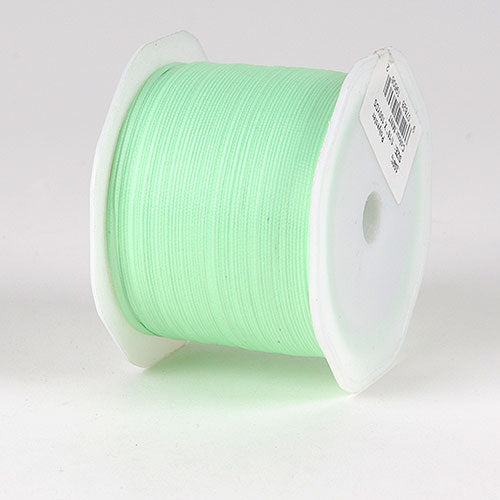 Mint Satin Ribbon - (W: 1/16 inch | L: 100 Yards)