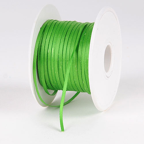 Apple Green Satin Ribbon - (W: 1/16 inch | L: 100 Yards)
