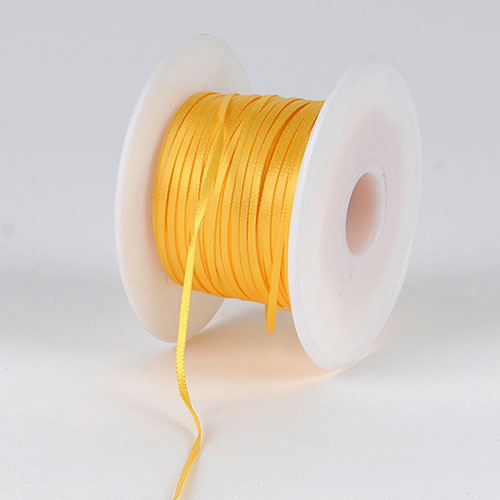 Light Gold Satin Ribbon - (W: 1/16 inch | L: 100 Yards)