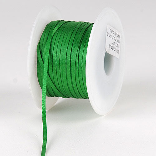 Emerald Satin Ribbon - (W: 1/16 inch | L: 100 Yards)