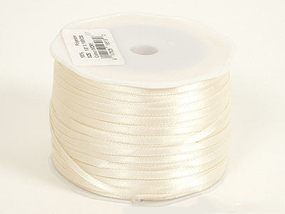 Ivory Satin Ribbon - (W: 1/16 inch | L: 100 Yards)