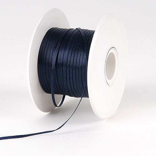 Black Satin Ribbon - (W: 1/16 inch | L: 100 Yards)