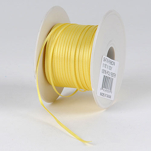 Yellow Satin Ribbon - (W: 1/16 inch | L: 100 Yards)