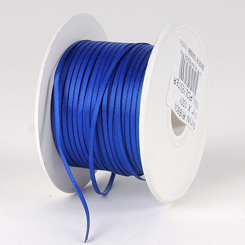 Royal Blue Satin Ribbon - (W: 1/16 inch | L: 100 Yards)