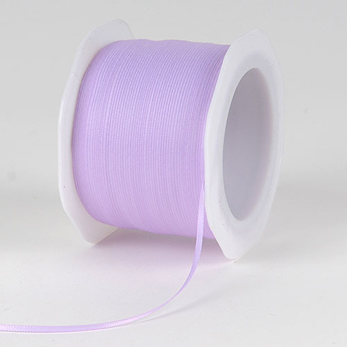 Lavender Satin Ribbon - (W: 1/16 inch | L: 100 Yards)