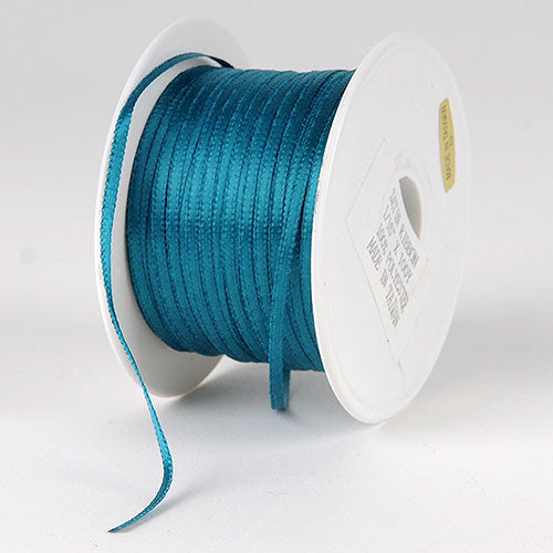 Teal Satin Ribbon - (W: 1/16 inch | L: 100 Yards)