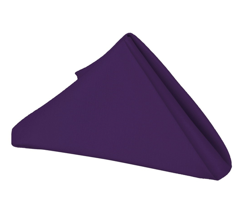 20 x 20 - 5 Pieces Purple 20 x 20 Polyester Napkins