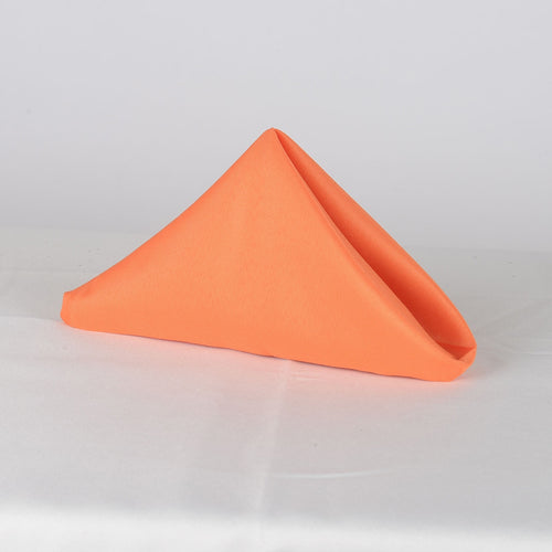 Orange- 20 x 20 Polyester Napkins - ( 20 x 20 - 5 Pieces | 5 Napkins )