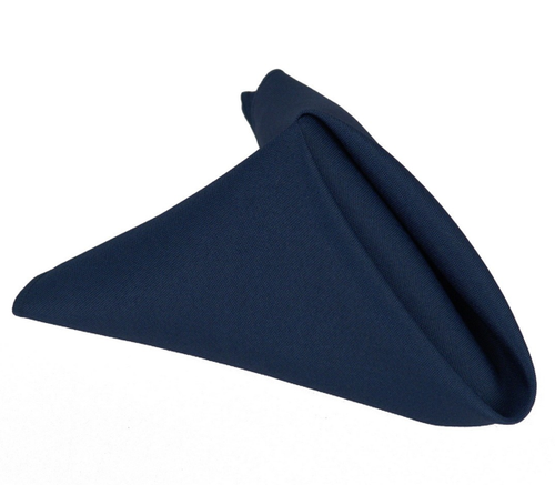 20 x 20 - 5 Pieces Navy Blue 20 x 20 Polyester Napkins