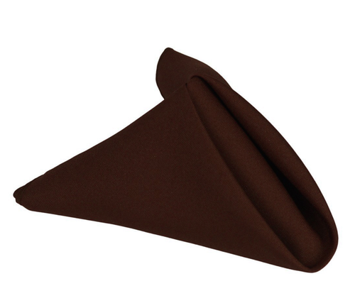 20 x 20 - 5 Pieces Chocolate Brown 20 x 20 Polyester Napkins