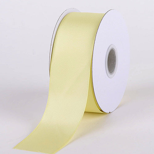 5/8 inch Baby Maize Satin Ribbon Double Face