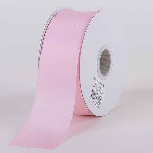 1-1/2 inch Light Pink Satin Ribbon Double Face