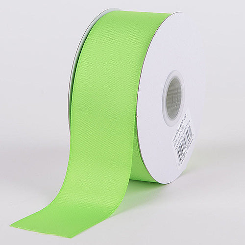 1-1/2 inch Apple Green Satin Ribbon Double Face