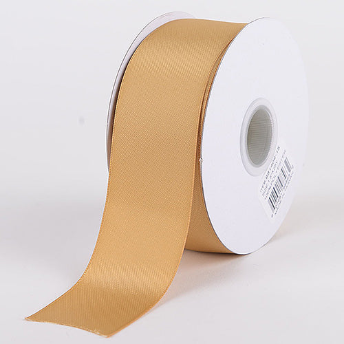 Old Gold - Satin Ribbon Double Face - ( W: 1-1/2 Inch | L: 25 Yards )