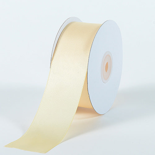 Ivory - Satin Ribbon Double Face - ( W: 1-1/2 Inch | L: 25 Yards )