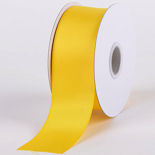 5/8 inch Canary Satin Ribbon Double Face
