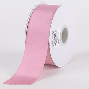 """2-3//4/"""" WIDE SWISS DOUBLE FACE SATIN RIBBON LIGHT PINK"""