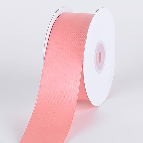 Coral - Satin Ribbon Double Face - ( W: 1-1/2 Inch | L: 25 Yards )
