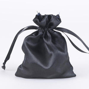 Black - Satin Bags - ( 3x4 Inch - 10 Bags )