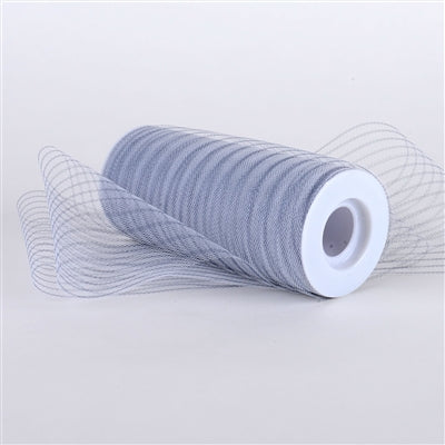 Silver Multi Striped Tulle - ( W: 6 inch | L: 10 Yards )