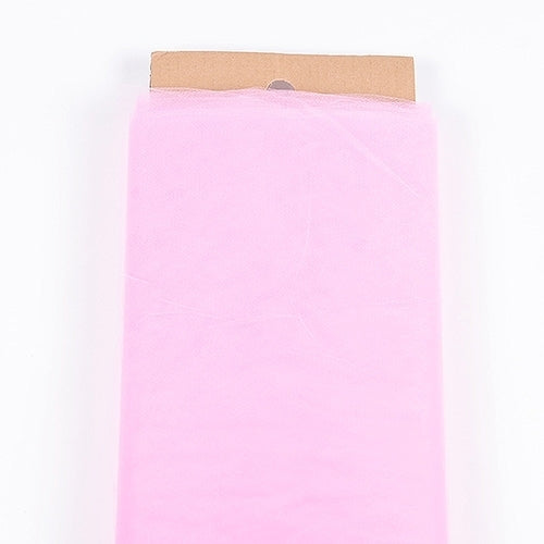 Pink - 54 Inch Premium Quality Nylon Tulle Fabric Bolt ( W: 54 inch | L: 40 Yards )