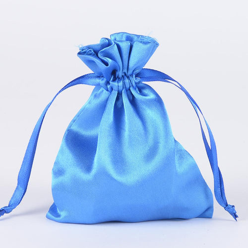 Royal Blue - Satin Bags - ( 3x4 Inch - 10 Bags )