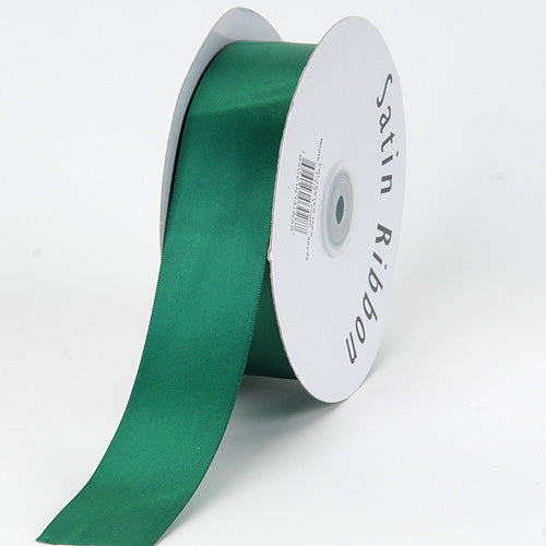 7/8 inch Hunter Green Satin Ribbon Single Face