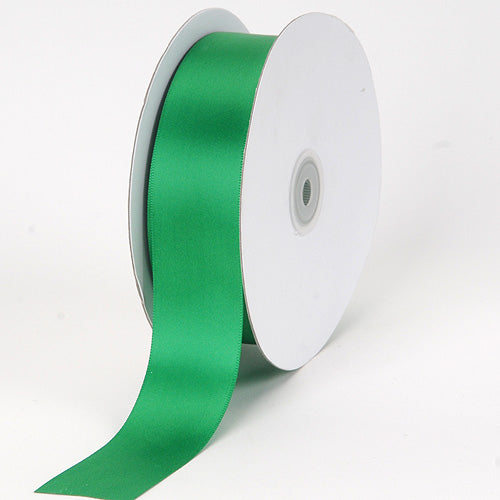 1/4 inch Emerald Satin Ribbon Single Face