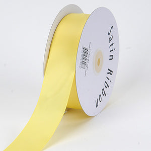 3/8 inch Canary Satin Ribbon Single Face