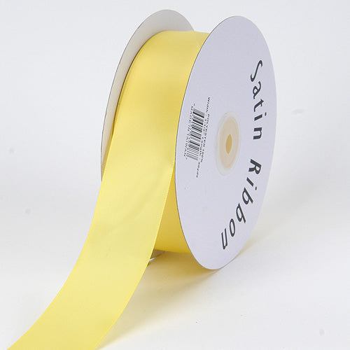 7/8 inch Canary Satin Ribbon Single Face