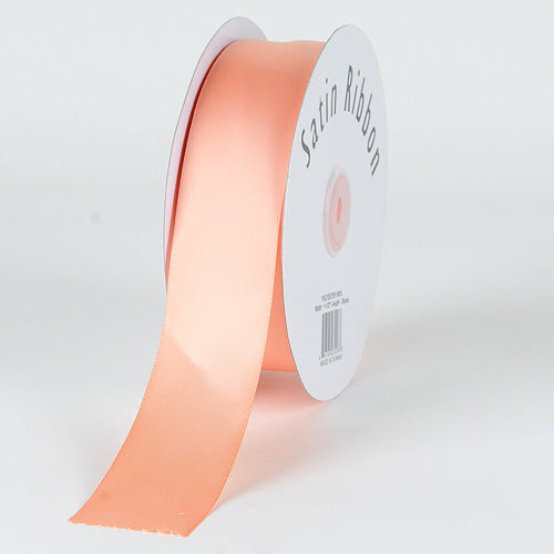 7/8 inch Peach Satin Ribbon Single Face