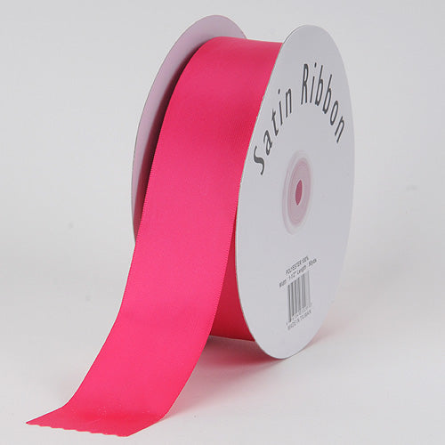 1/8 inch Fuchsia Satin Ribbon Single Face