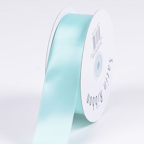 Aqua Blue - Satin Ribbon Single Face - ( W: 3/8 Inch | L: 100 Yards )