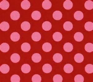 Grosgrain Ribbon Polka Dot Red/Baby Pink Dots ( W: 7/8 inch | L: 50 Yards )