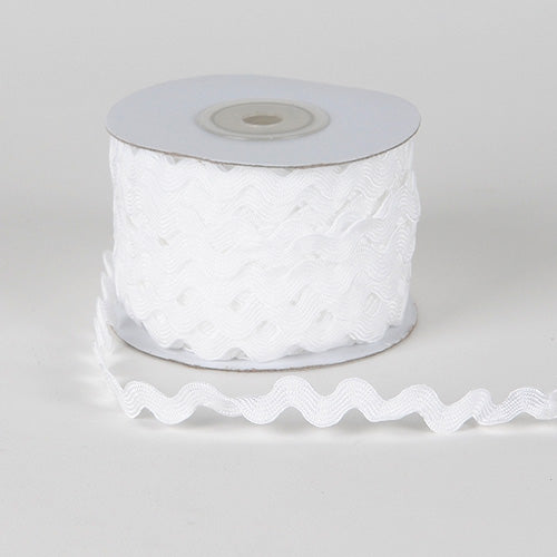 10mm - 25 Yards White Ric Rac Trim