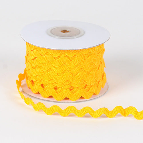 Light Gold Ric Rac Trim - ( 5mm x 25 Yards )