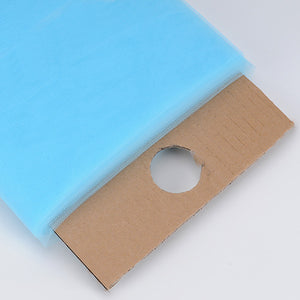 54 inch Light Blue Premium Glimmer Tulle Fabric