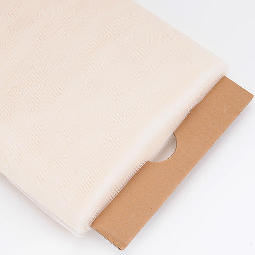54 inch Ivory Premium Glimmer Tulle Fabric