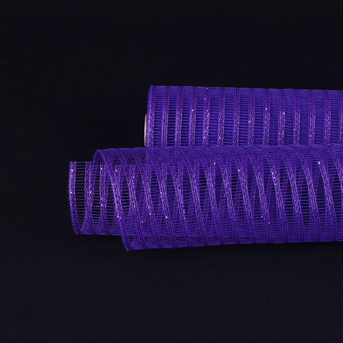 21 Inch x 10 Yards Purple Deco Mesh Laser Eyelash