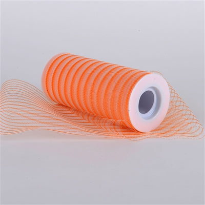 Orange 6 Inch Multi Striped Tulle