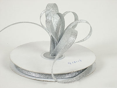 1 inch Silver Metallic Ribbon